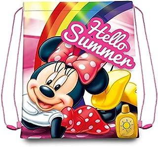 40 cm Disney Bolsa Cordones Gym Bag 40x30cm de Minnie Bolsa de Cuerdas para El Gimnasio