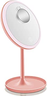 LED Lighted Vanity Makeup Mirror with 5X Magnification Mirror USB Touch Control 360Degrees Rotation Lighting Cosmetic Mirror