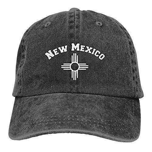 Sombrero Snapback New Mexico Zia Symbol Fashion Denim Cap Personalizado Acogedor Clásico Duradero Gorra De Béisbol Sombrero De Camionero Sombrero De Papá Unisex Ajustable Pesca Hi
