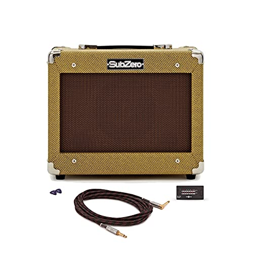 Vintage 15W Combo Bass Amp SubZero Tweed V15B with Accessories