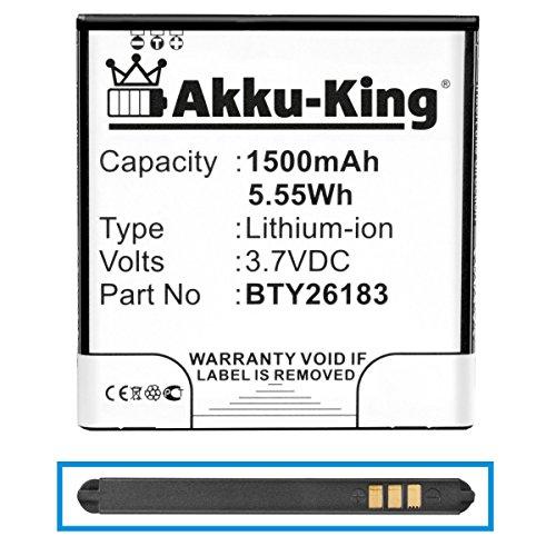 Akku kompatibel mit Elson Mobistel Cynus F4, MT-7521B, MT-7521w - ersetzt BTY26183, BTY26183Mobistel/STD - Li-Ion 1500mAh