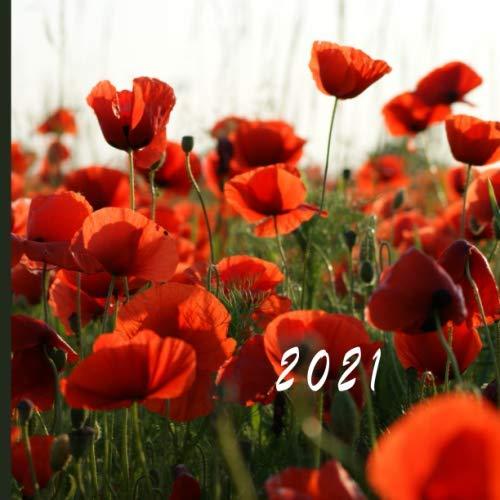 2021: Monthly Photo Calendar | January 2021 - December 2021 | Monthly Calendar with U.S./UK/ Canadian/Christian/Jewish/Muslim Holidays | Wild Flowers Calendar