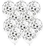Libetui 10 Bunte Luftballons Deko Geburtstag Kindergeburtstag Party 30cm (Fußball)