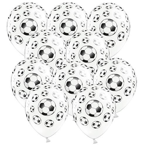 Libetui 10 Bunte Luftballons Deko Geburtstag Fußball Kindergeburtstag Party Durchmesser 30cm Luftballon Fußball