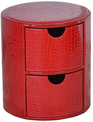 Klappstühle Fuß Hocker Runde Aufbewahrungsbox ändert Schuh Hocker Polster Fußraste Ledersitz Dressing Makeup Hocker Fußstütze Hocker Sitz mit 2 Fach (Farbe: rot), Farbe: Rot (Color : Red)