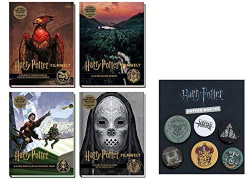 Harry Potter Filmwelt Band 5-8 + 1 Original Harry Potter Button