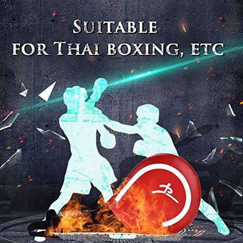 Demeras - Almohadilla de boxeo para entrenamiento de boxeo (rojo)