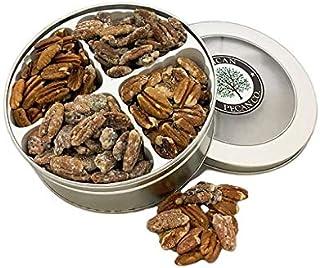 Four Flavors Pecan Gift Tin | 1 Lb | Millican Pecan since 1888 | San Saba, Texas