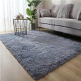 iconxc Moderne Flauschige großflächige Teppiche für Wohnzimmer Schlafzimmer Soft Shaggy Plüsch...