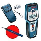 Bosch Professional digitales Ortungsgerät GMS 120 (Bohrlochmarker, max. Detektionstiefe Holz/Eisenmetalle/Nichteisenmetalle/spannungsführende Leitungen: 38/120/80/50 mm)