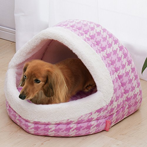 『アイリスオーヤマ ペットベッドドーム型 Mサイズ ピンク P-BDG480』の2枚目の画像