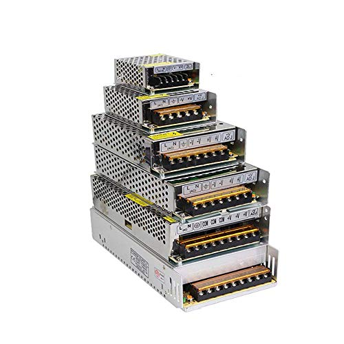 Transformador de iluminación AC110V-220V a DC 5V 12V 24V 48V Adaptador de Fuente de alimentación 2A 5A 10A 15A 20A 30A Controlador de Interruptor de Tira de LED,60A,5V
