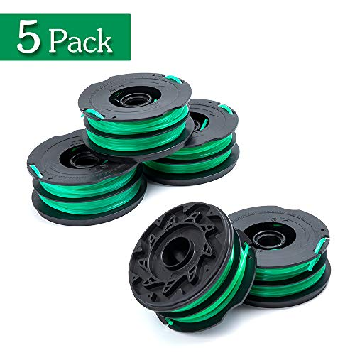 FutureWay String Trimmer Replacement Spool Line 0.08 GH1100 GH1000 GH2000, Dual Line Weed Trimmer Spool 30ft Compatible with Black Decker DF-080, Cordless Trimmer Edger Replacement (5 PCS)