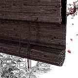 Persianas Enrollables De Bambú Persianas Enrollables Persianas Romanas De Bambú Persianas Persianas Enrollables De Madera - Marrón A La Ventana Balcón del Estudio Múltiples Opciones De Tamaño