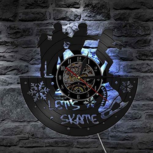 NUYI Reloj Decorativo con Retrato de Animal Salvaje, Reloj de Pared con Cabeza de Tigre, Reloj de Vinilo con Registro de Tigre Salvaje de Naturaleza Africana, Regalo de Cueva para Hombre