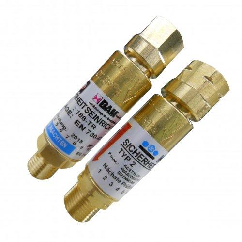 Explosionsschutz Rückschlagventil Acetylen / Sauerstoff
