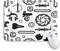 マウスパッド パーツホイールアルミニウムバイクバイクブラックブレーキナットきののパターン ゲーミング オフィス おしゃれ がい りめゴム ゲーミングなど ノートブックコンピュータマウスマット