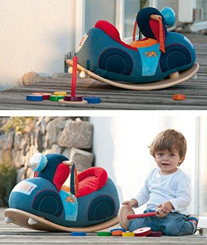roba Schaukelmotorad, Schaukelspielzeug mit weicher Stoff-Polsterung, Schaukelsitz für Kleinkinder ab 18 Monate - 7