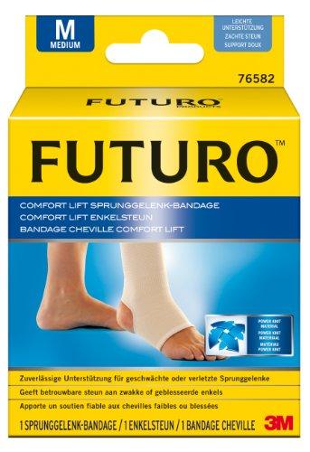 FUTURO FUT76582 Comfort Sprunggelenk-Bandage, beidseitig tragbar, Größe M, 31,8 – 38,0 cm