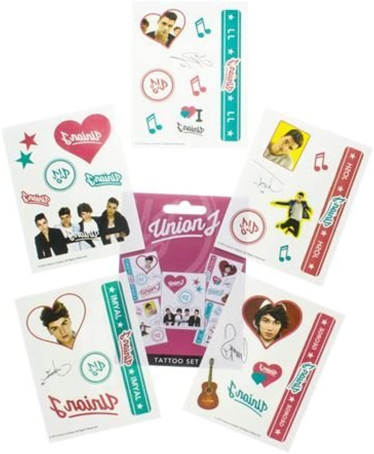 Official Union J Temporary Tattoo Pack by Union J
