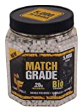 Game Face 20GBW5J 5000 Count Match Grade White Airsoft BBS, 0.20gm