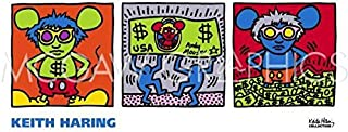 keith haring andy mouse print