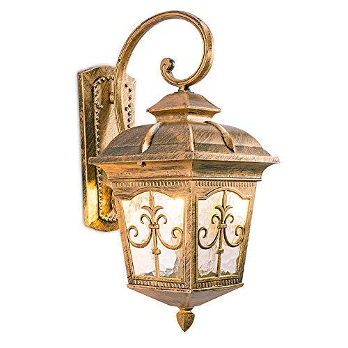 Lámparas de pared de calidad American Country Mount Mount Porch Light Fixtures al aire libre con vidrio martillado Lámpara de pared exterior victoriana tradicional a prueba de tiempo Aplique Iluminaci