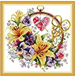 Pre-printed pattern embroidery Embroidery kit sewing kit various tapestry embroidery set 40x40cm cross stitch embroidery set Including multi-thread cotton thread[] Bordado con aguja 5D HD cod.043