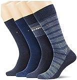 Tommy Hilfiger Mens Stripe Men's Gift Box Classic Sock, Jeans, 43/46