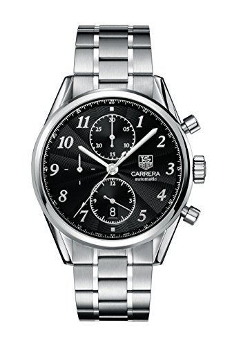 TAG Heuer Men's Analog-Digital Automatic Watch with Stainless Steel Plated...