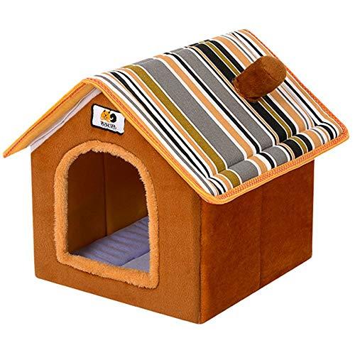 Cesta para Mascotas Hecha de Felpa 5 Colores Diferentes y 4 tamaños - Lavable y a Prueba de arañazos casa para los Perros y Gatos (Style 3, M (36x32x40cm))