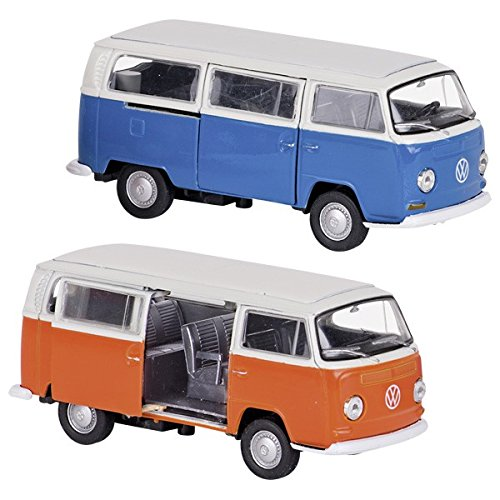 Volkswagen bus T2 (1972). spuitgietwerk. 1:34-39