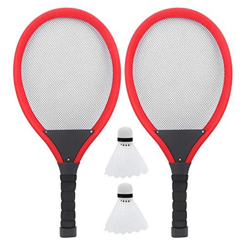 Keenso LED Badminton Schläger, LED Badminton Schläger Set Glowing Family Entertainment Outdoor Nacht Spielzeug W/Ball