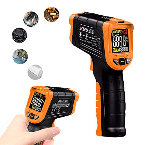 DUBAOBAO Digitale Thermometer voor Koorts, Voorhoofd Thermometer Niet-Contact Infrarood thermometer, industrie Infrarood thermometer Meetbaar voedsel, geschikt voor thuis en op kantoor