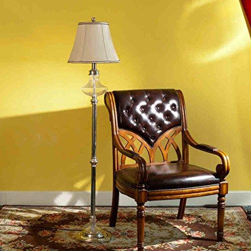 XIN Home staande lamp, vloerstaande lezing, creatieve eenvoudige Europese stijlbekleding chroom woonkamer slaapkamer studie decoratie tafellamp staande lamp oogbescherming verticale tafellamp