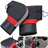 Winter Motorcycle Handlebar Mitt- Rainproof Windproof Thickened Motor Cycling Hand Mitts Handlebar Muff Mountain Bicycle Bike Hands Warmer for Cold Weather Riding