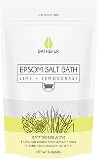 Bathefex Epsom Lime and Lemongrass Bath Salt, 1.4 kg
