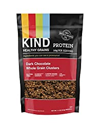 KIND Healthy Grains Clusters, Dark Chocolate Granola, 10g Protein, Gluten Free, Non GMO, 11 Ounce (P