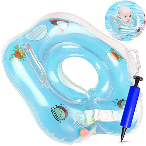 Flotador Bebé - Flotador de Anillo de Natación para Bebés Flotador Inflable para Bebé,Natación Hinchables Niños, Nadar Anillo, para Bebés para Doble Airbag Flotador Cuello para 6 a 36 Meses Bebé(BLUE)