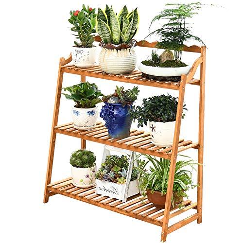 Bloem en Plant Opslagruimte Rek Stand Bloementrap met 3 stappen Ladder voor Huis Binnen Balkon Woonkamer Slaapkamer Buiten Tuin Decor