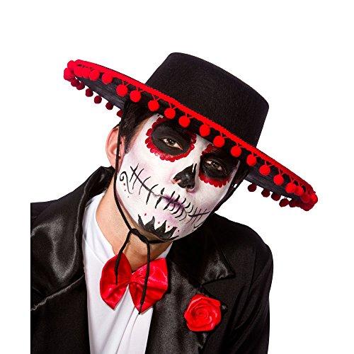 Day of the Dead Senor Hat Accessory for Halloween Fancy Dress