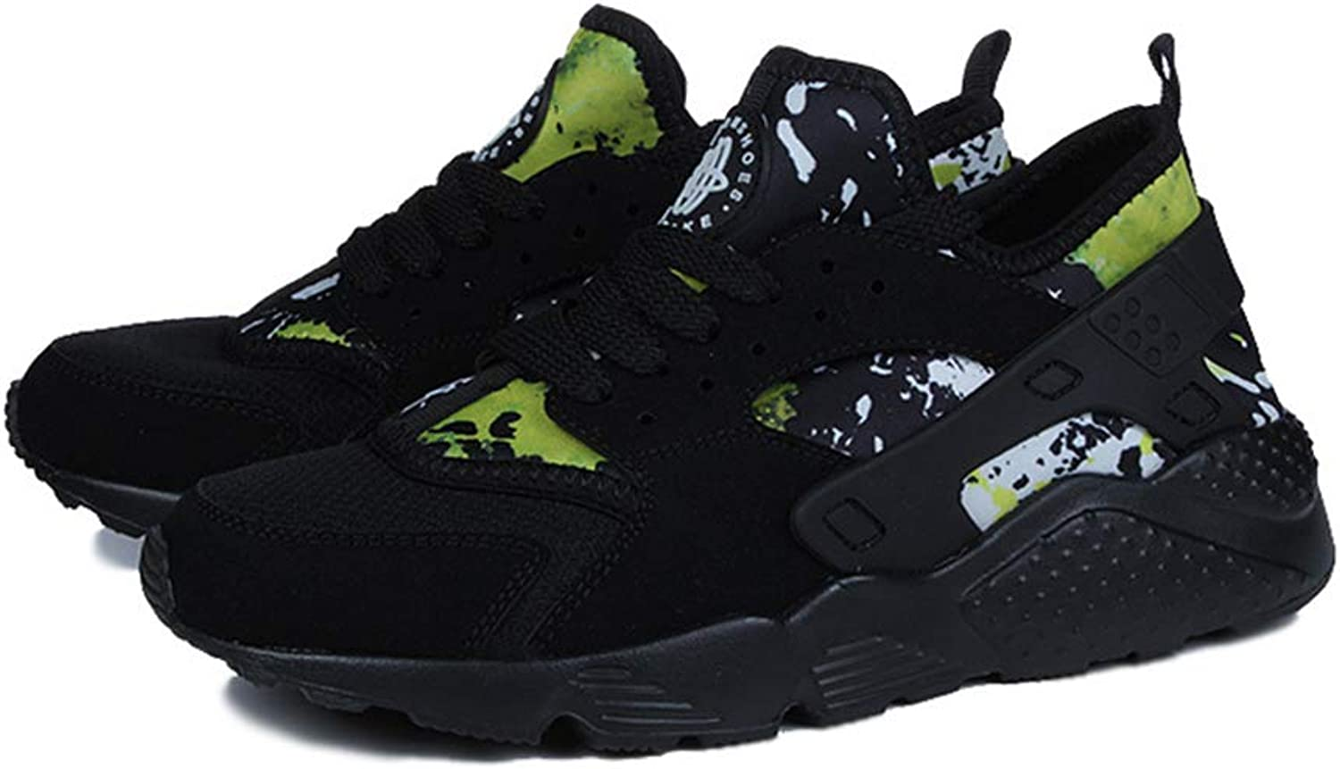 LXYIUN Men's sneakers,Fashion Camouflage Lightweight Running shoes,Black,40
