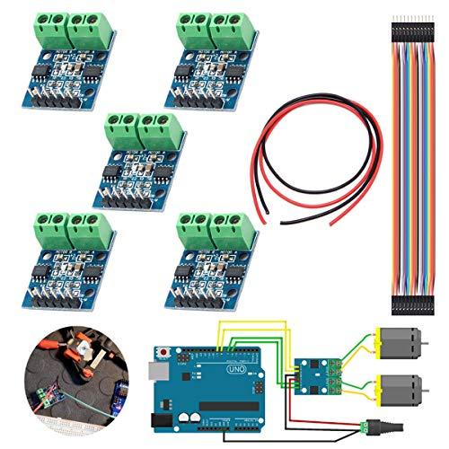 Youmile 5 STÜCKE L9110S DC Schrittmotortreiber Controller Board 2,5-12 V H-brücke Für Arduino Mit Dupont Kabel Stecker auf Buchse 30 PIN, 28AWG Draht