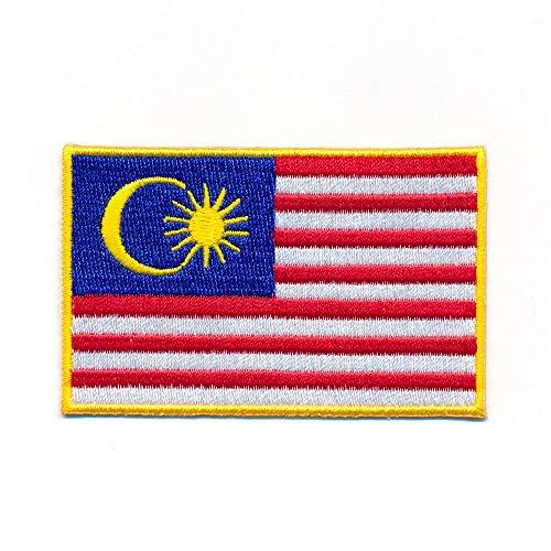 hegibaer 60 x 35 mm Malaysia Flagge Kuala Lumpur Flag Patch Aufnäher Aufbügler 1999 B