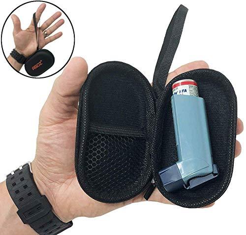 AGOZ Medizinische Tasche für Asthma mit Reißverschluss und Handgelenkschlaufe