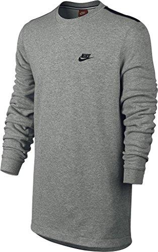 Nike para Hombre Moderno tripulación 727334, DK Gris Jaspeado/Negro