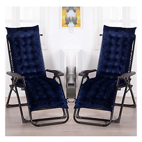 HEJINXL - Cojines para tumbona, cojín de terciopelo de cristal, cómodo cojín para jardín, terraza interior, terraza o terraza, 2 unidades (sin silla), D, 160x48cm