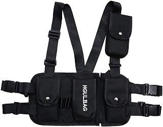 Leezo hombres mujeres moda pecho aparejo cintura bolso urbano funcional táctico hip hop hombro bolso multiusos deporte mochila Crossbody Bolsas