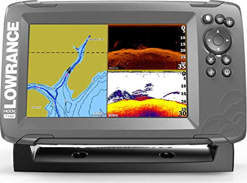 Lowrance HOOK2 7 - 7-inch Fish Finder with SplitShot Transducer and US Inland Lake Maps Installed (Renewed)