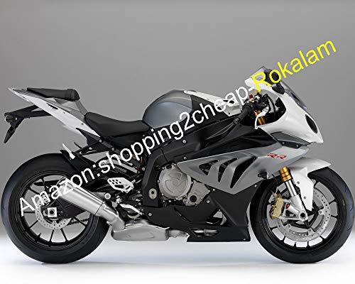 Pour pièces S1000RR 2010 2011 2012 2013 2014 S 1000RR S1000 RR Gris Noir Carénage complet de moto (moulage par injection).